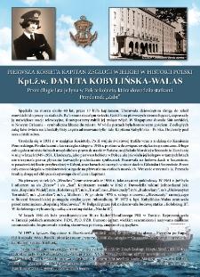 Poczet kapitanów żeglugi wielkiejj - kpt. ż.w. Danuta Kobylińska Walas
