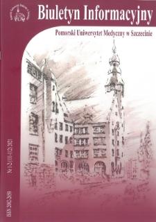 Biuletyn Informacyjny - Pomorski Uniwersytet Medyczny w Szczecinie. Nr 1-2 (111-112), 2021