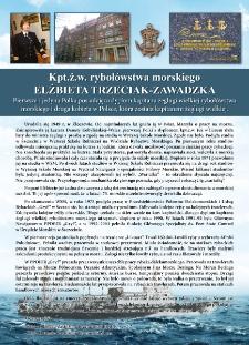 Poczet kapitanów żeglugi wielkiej - kpt. ż.w. Elżbieta Trzeciak - Zawadzka