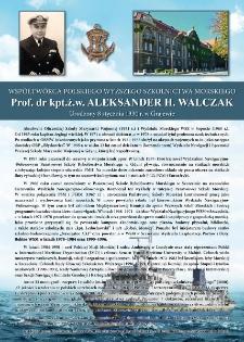 Poczet kapitanów żeglugi wielkiej - kpt.ż.w. Aleksander Walczak