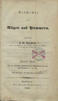 Geschichte von Rügen und Pommern. T. 2, Von der Belehrung Pommerns zum Christenthume bis zum Tode Barnims I. i. J. 1278