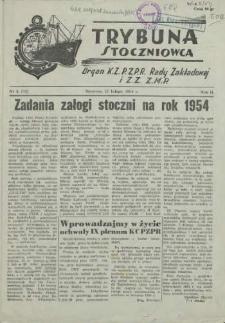 Trybuna Stoczniowca. R.2, 1954 nr 3