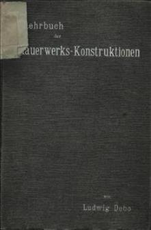 Lehrbuch der Mauerwerks-Konstruktionen