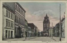 Pyritz, Stettiner Straße mit Stettiner Tor
