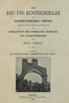 Die Bau- und Kunstdenkmäler der Provinz Pommern.T.2,Bd.2, H. 5, Der Kreis Randow