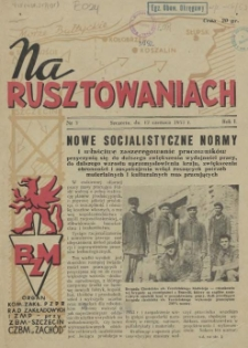 Na Rusztowaniach. R.1, 1953 nr 3
