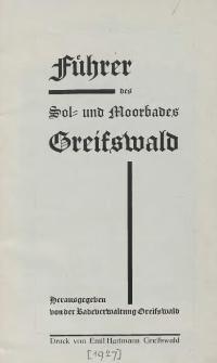 Führer des Sol- und Moorbades Greifswald