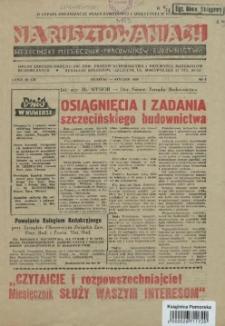 Na Rusztowaniach : szczeciński miesięcznik pracowników budownictwa. R.1, 1958 nr 1