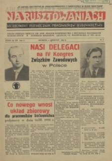 Na Rusztowaniach : szczeciński miesięcznik pracowników budownictwa. R.1, 1958 nr 3