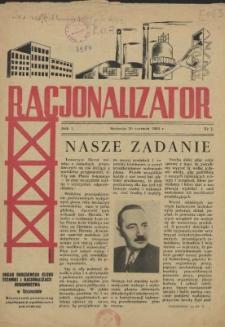 Racjonalizator : miesięcznik poświęcony popularyzacji wynalazczości pracowniczej. R.2, 1954 nr 7-8