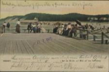 Misdroy, Auf der Brücke und Blick auf den Kaffeeberg