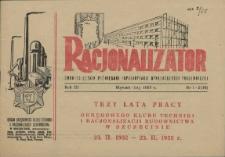 Racjonalizator : miesięcznik poświęcony popularyzacji wynalazczości pracowniczej. 1955
