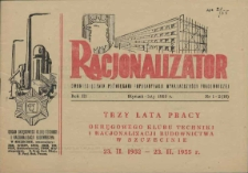 Racjonalizator : miesięcznik poświęcony popularyzacji wynalazczości pracowniczej. R.4, 1956 nr 3-4