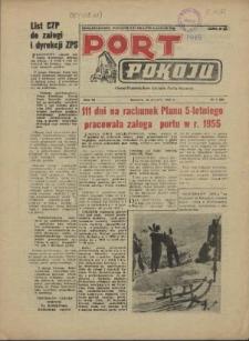 Port Pokoju : pismo Komitetu Zakładowego PZPR i Rad Zakładowych ZPS. R.6, 1956 nr 6