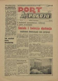 Port Pokoju : pismo Komitetu Zakładowego PZPR i Rad Zakładowych ZPS. R.6, 1956 nr 14