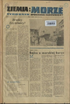 Ziemia i Morze : tygodnik społeczno-kulturalny. R.1, 1956 nr 1