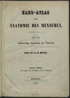 Hand-atlas der Anatomie des Menschen : nebst einem tabellarischen Handbuche des Anatomie