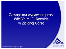 Czasopisma wydawane przez WiMBP im. C. Norwida w Zielonej Górze