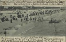 Swinemünde, Strandleben am Damenbad