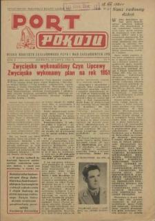 Port Pokoju : pismo Komitetu Zakładowego PZPR i Rad Zakładowych ZPS. R.1, 1951 nr 11