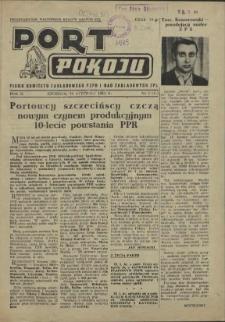 Port Pokoju : pismo Komitetu Zakładowego PZPR i Rad Zakładowych ZPS. R.2, 1952 nr 1