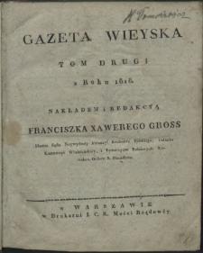 Gazeta Wieyska z roku 1818. T. 2