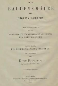 Die Baudenkmäler des Regierungs-Bezirks Stralsund. T.1, H.1, [Kreis Franzburg]