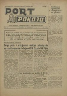 Port Pokoju : pismo Komitetu Zakładowego PZPR i Rad Zakładowych ZPS. R.2, 1952 nr 15
