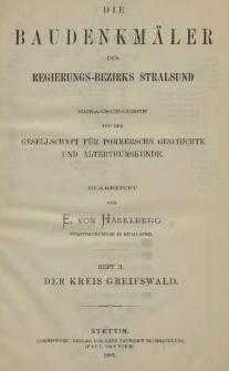 Die Baudenkmäler des Regierungs-Bezirks Stralsund. T.1, H.2, Der Kreis Greifswald