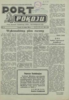 Port Pokoju : pismo Komitetu Zakładowego PZPR i Rad Zakładowych ZPS. R.4, 1954 nr 1