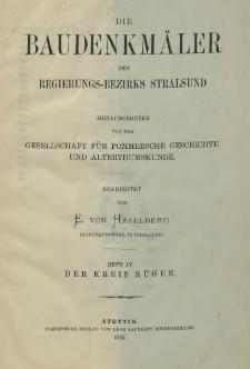 Die Baudenkmäler des Regierungs-Bezirks Stralsund. T.1, H.4, Der Kreis Rügen