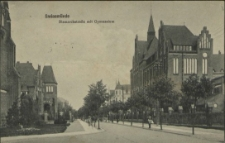 Swinemünde, Bismarckstraße mit Gymnasium