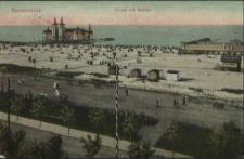 Swinemünde, Strand mit Brücke
