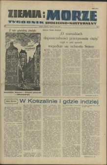 Ziemia i Morze : tygodnik społeczno-kulturalny.R.1, 1956 nr 8