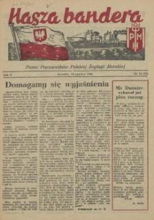 Nasza Bandera : pismo Pracowników Polskiej Żeglugi Morskiej. R.2, 1954 nr 22 (27)