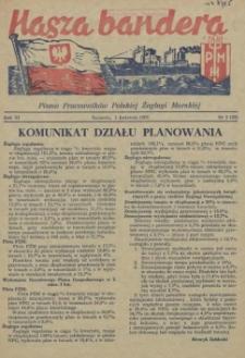Nasza Bandera : pismo Pracowników Polskiej Żeglugi Morskiej. R.3, 1955 nr 5 (33)