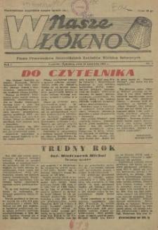 Nasze Włókno : pismo pracowników Szczecińskich Zakładów Włókien Sztucznych. R.1, 1955 nr 1