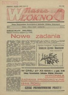 Nasze Włókno : pismo pracowników Szczecińskich Zakładów Włókien Sztucznych. R.1, 1955 nr 5-6
