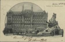 Stettin, Rathaus mit Manzelbrunnen