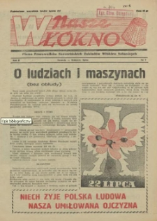 Nasze Włókno : pismo pracowników Szczecińskich Zakładów Włókien Sztucznych. R.2, 1956 nr 7