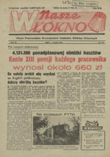 Nasze Włókno : pismo pracowników Szczecińskich Zakładów Włókien Sztucznych. R.3, 1957 nr 7-8