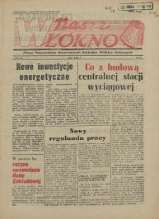 Nasze Włókno : pismo pracowników Szczecińskich Zakładów Włókien Sztucznych. R.4, 1958 nr 2