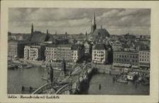 Stettin, Hansabrücke mit Stadtbild