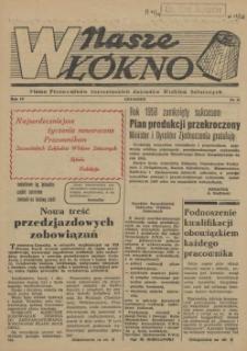 Nasze Włókno : pismo pracowników Szczecińskich Zakładów Włókien Sztucznych. R.4, 1958 nr 12