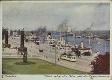 Stettin, Blick auf die Oder von der Hakenterrasse
