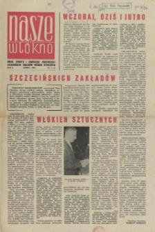 Nasze Włókno : pismo pracowników Szczecińskich Zakładów Włókien Sztucznych. R.1, 1964 nr 1