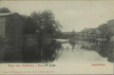 Gruss aus Greifenberg in Pommern, Jungfernbrücke