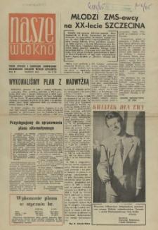 Nasze Włókno : pismo pracowników Szczecińskich Zakładów Włókien Sztucznych. R.2, 1965 nr 3