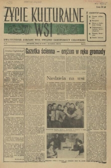 Życie Kulturalne Wsi : dwutygodnik Zarządu Woj. Związku Samopomocy Chłopskiej. R.1, 1955 nr 5