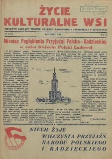 Życie Kulturalne Wsi : biuletyn Zarządu Wojew. Związku Samopomocy Chłopskiej w Szczecinie. R.2, 1954 nr 9